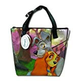 Disney Lady and the Tramp Black Nylon Tote Bag