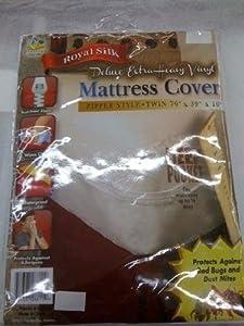 Naturally Home RL Plastics Royal Silk Extra Heavy Vinyl Deep Pocket Mattress Cover, King