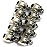 30pcs Approx Tibet Silver Skull Spacer Beads---Great DIY Accessories for Necklace, Bracelets and Earrings Making