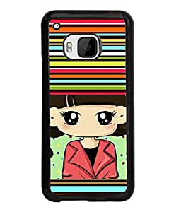 Fuson Multi lines Pattern Back Case Cover for HTC ONE M9 - D3939