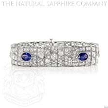 buy Magnificent Art Deco Platinum, Sapphire And Diamond Bracelet, Circa 1925-30. (J4169)