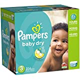 Pampers Baby Dry Diapers Economy Pack Plus, Size 3, 204 Count