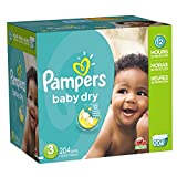 Up to 12 hours of overnight protection! With Pampers Baby Dry diapers, your baby can get Up to 12 hours of overnight protection and dryness! These diapers have 3 layers of absorbency versus only 2 in an ordinary diaper, which helps them stay up to 3X...