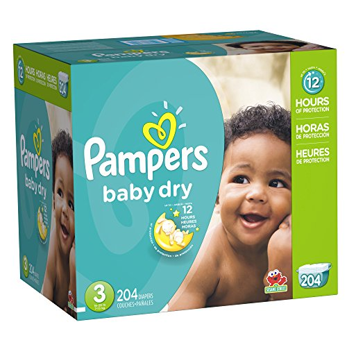 Pampers Baby Dry Size 3 Economy Pack Plus, 204 Count