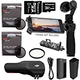 DJI Osmo Handheld Fully Stabilized 4K 12MP Camera, Ritz Gear HD MC CPL Protective Filter, Ritz Gear HD MC UV Protective Filter, Samsung 32GB PRO Class 10 Micro SDHC Card and Accessory Bundle
