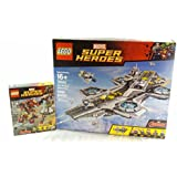 LEGO Marvel Super Heroes The Hulk Buster Smash and The Shield Helicarrier Collectors Bundle