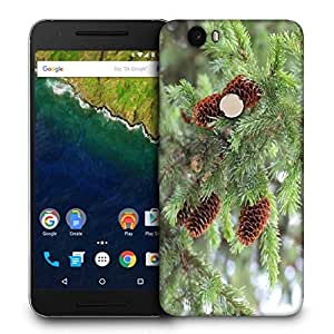 Snoogg Brown Flower Printed Protective Phone Back Case Cover For LG Google Nexus 6P