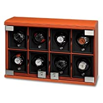 8-Module Leather Watch Winder by Underwood Watch Winders
