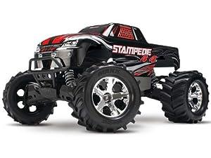 Traxxas Stampede 4 x 4 RTR XL-5 ESC Titan 12-T Motor Monster Truck, Red/Blue/Black/Silver by Traxxas