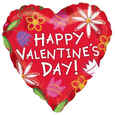 """18"""" Valentine Sketch Flowers Vlp"""