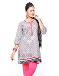 Purab Paschim Women's Cotton Printed Kurti (20950)