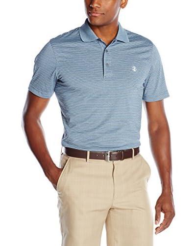 IZOD Men's Short Sleeve Poly Feeder Stripe Jersey Golf Polo