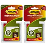 Command Picture Hanging Strips, Small, White, 8-Strip -2 Pack