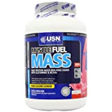 Top USN Muscle Fuel Mass Muscle and Mass Gain Shake Powder Strawberry - 2 kg -image