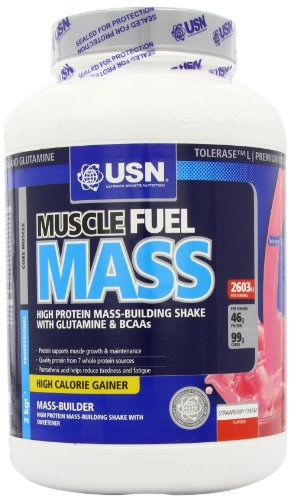 USN Muscle Fuel Mass 2000 g Strawberry Muscle and Mass Gain Shake Powder