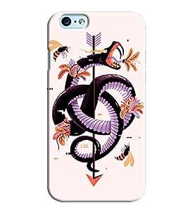 Blue Throat Snake On Arrow Printed Designer Back Cover/ Case For Apple iPhone 6