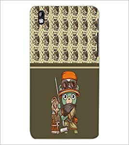 PrintDhaba Cartoon D-4315 Back Case Cover for HTC DESIRE 816 (Multi-Coloured)