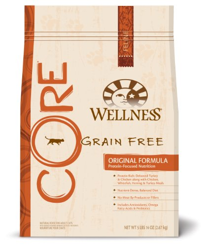 Detail image Wellness CORE Grain-Free, Original Formula Adult Cat and Kitten Food, 5lb.14oz