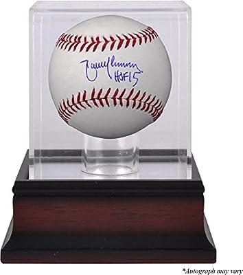 Randy Johnson Arizona Diamondbacks Autographed Baseball with HOF 15 Inscription and Mahogany Baseball Display Case - Fanatics Authentic Certified