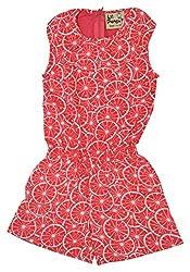 Lil Penguin Girls' Clothing Set (LPSS16006G_12-18 months, Orange, 12-18 months)