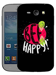 "Humor Gang Be Happy Bee Quote Printed Designer Mobile Back Cover For ""Samsung Galaxy j1"" (3D, Matte, Premium Quality Snap On Case)"