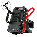 LEVIN 自転車 スマホホルダー バイク用 携帯ホルダー ゴムバンド2本入り ワンボタン設計 ナビ用 (5.7インチまでのスマホに対応可能)
