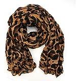 AllBueaty Fashion Women Ladies Brown Leopard Print Soft Long Stole Scarf Shawl Pashmina (A)