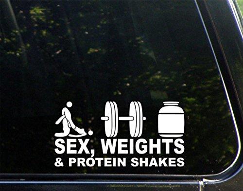 Sesso, peso e preparazione di bevande proteiche, 5,08 cm x 19 cm) (2 10,16 (4 Die-cut decalcomania Sticker per finestre, auto, camion, ecc.).