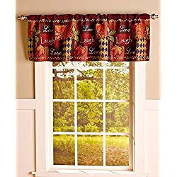 Ideal Live Laugh Love Fall Tapestry Valance