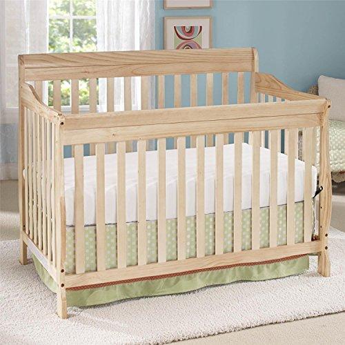Big Oshi Stephanie Convertible 4 in 1 Crib, Natural (Convertible Crib Natural compare prices)