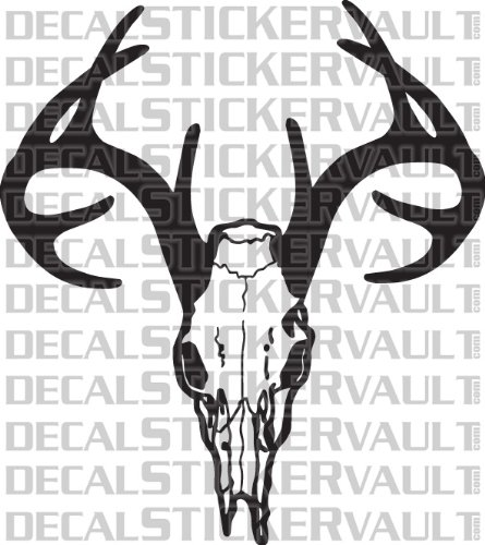 Deer Skull Rack Hunting Decal Sticker Window Decal Hunter Bowhunter Bowhunting
