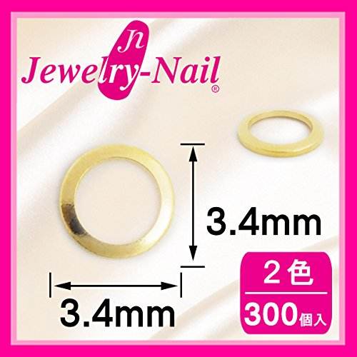ネイルパーツ Nail Parts スタッズドーナツ 3.4mm(SSー7) 300入 ゴールド