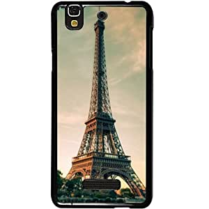 Casotec Eiffel Tower Beautiful Cityscape Design 2D Hard Back Case Cover for Micromax Yu Yureka AQ5510 / AO5510 - Black