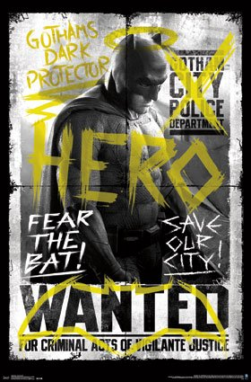 "Trends International Fear The Bat Batman Vs Superman Wall Poster, 22"" by 34"" at Gotham City Store"