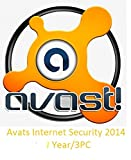 Avast! Internet Security 2014 [Download]-license File 3 Year/3pc Sent Email