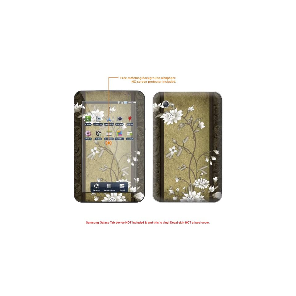Protective Decal Skin STICKER for Samsung Galaxy Tab Tablet 7inch