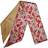 Women's Coach Kristin Chain Ponytail / Neck Scarf Double Sided Multicolor