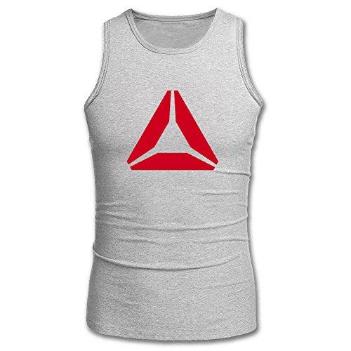 Reebok Logo Sport Tanks Tops -  Canotta  - Uomo Grigio Medium