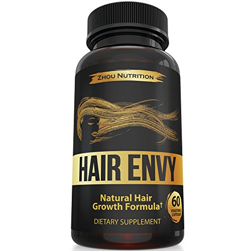 All-Natural Hair Growth Formula For Healthy Hair Growth, Fullness, and Shine - Scientifically Formulated with Biotin, Keratin, Bamboo & More! - For All Hair Types - Veggie Capsules