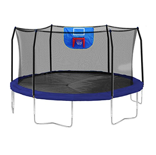 Jump N' Dunk Trampoline with Safety Enclosure & Basketball Hoop
