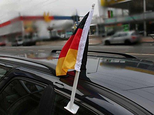 Nationalflagge Deutschland für Autoscheibe WM-Flagge Fensterscheibe WM Fahne Autoflagge