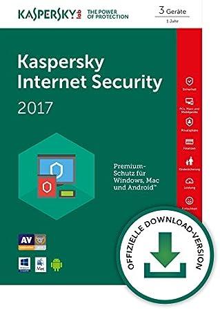Kaspersky Internet Security 2017 3 Geräte [Download]