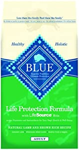 Blue Buffalo Dry Dog Food, Lamb and Rice Recipe, 30-Pound Bag