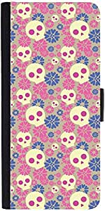 Snoogg Skull Flower Patterndesigner Protective Flip Case Cover For Sony Xperi...