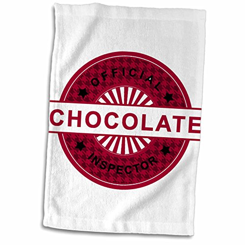 Anne Marie Baugh Sayings - Saying - Official Chocolate Inspector - In Red - 11x17 Towel (twl_65151_1)