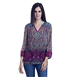 MansiCollections MultiColour Georgette Womens Top (X-Large)