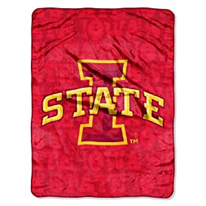Buy NCAA Iowa State Cyclones 46-Inch-by-60-Inch Micro-Raschel Blanket, Grunge Design by Northwest