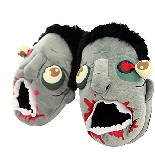 Costume Terror Zombie Plush Slippers for Adult, One Size Fits Most