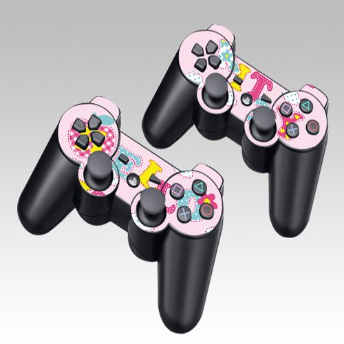 Hello kitty Design Skin Decal Sticker for the PS3 Playstation 3 Controller 2pcs in 1
