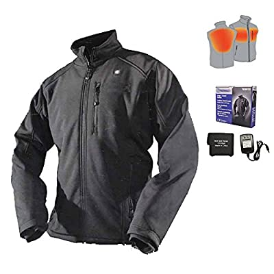 Cordless Heated Jacket Carbon Fiber Electric Heating Clothing Male Jacket Thermal Clothing with 1PCS 4400mah Battery